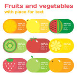 Fresh juice colorful round fruit icon set for market or cafe. Vector modern illustration, stylish design elememt vector illustration