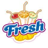 Fresh Juice emblem Royalty Free Stock Photos