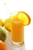 Fresh juice and fruits Stock Image