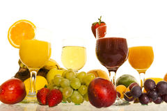 Fresh juice fruits Royalty Free Stock Images