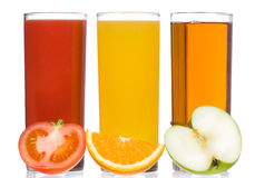 Fresh juice with fruits and vegetable Royalty Free Stock Photography