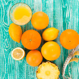 Fresh juice in glass Royalty Free Stock Image