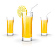Fresh juice glass Stock Photography