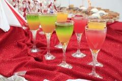 Fresh juice glasses Royalty Free Stock Photography