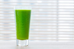 Fresh juice from green vegetables and fruits. Healthy vitamin drink. Royalty Free Stock Images