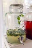 Fresh juice of lemon and mint Stock Photo