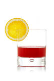 Fresh juice with lemon slice Royalty Free Stock Photography