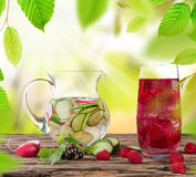 Fresh juice mix fruit Stock Photo