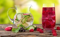 Fresh juice mix fruit Stock Photography