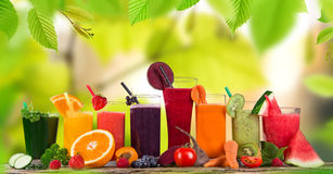 Fresh juice mix fruit royalty free stock photography