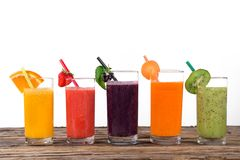 Fresh juice mix fruit Royalty Free Stock Photos