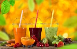 Fresh juice mix fruit. Royalty Free Stock Image
