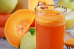 Fresh juice, mix fruits and vegetable. Healthy food Royalty Free Stock Photography