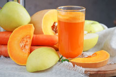 Fresh juice, mix fruits and vegetable. Healthy food Stock Image