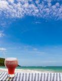 Fresh juice near beach Royalty Free Stock Image