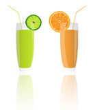 Fresh juice orange and lime Royalty Free Stock Images