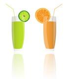 Fresh juice orange and lime royalty free stock images