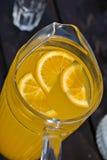 Fresh juice of orange with pieces Stock Image