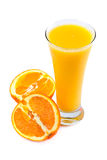 Fresh juice and oranges Royalty Free Stock Photos
