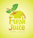Fresh juice with a picture apple Royalty Free Stock Images
