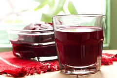 Fresh juice of red beets Stock Photos
