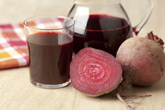 Fresh juice of red beets stock images