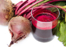 Fresh juice of red beets on white Stock Photo
