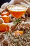 Fresh juice of ripe mandarins Stock Photos