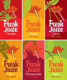 Fresh juice set Stock Photos