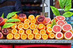 Fresh juice stand Royalty Free Stock Image
