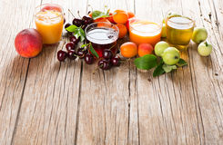 Fresh juice from summer fruits Royalty Free Stock Photography
