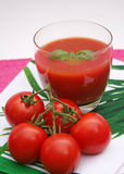 Fresh juice of tomatoes Royalty Free Stock Photography