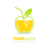 Fresh juice vector logo Royalty Free Stock Images