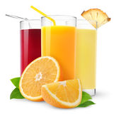 Fresh juices stock photo