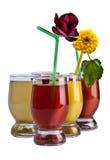 Fresh juices. Isolated on white Royalty Free Stock Photo