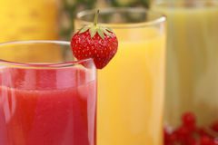Fresh juices Royalty Free Stock Image