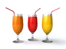 Fresh juices Royalty Free Stock Photography