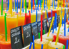 Fresh juices assortie Stock Photography