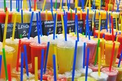 Fresh juices assortie Stock Photography