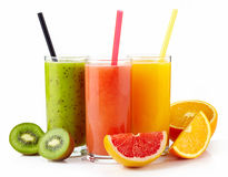 Fresh juices Royalty Free Stock Photos