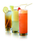 Fresh juices isolated royalty free stock images
