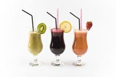 Fresh juices. Isolated on white stock photo