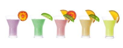 Fresh juices isolated on white background Royalty Free Stock Images
