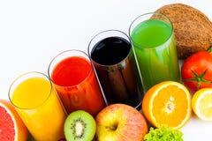 Fresh  juices isolated on white Stock Image