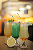 Fresh juices with lemon Stock Photos