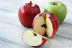 Fresh, juicy apples Stock Images