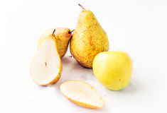 Fresh, juicy apples and pears Stock Photo