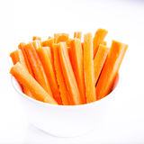 Fresh juicy carrot cut and ready to eat Royalty Free Stock Images