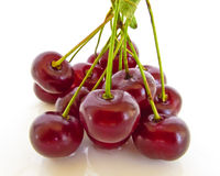 Fresh Juicy Cherries Stock Photos