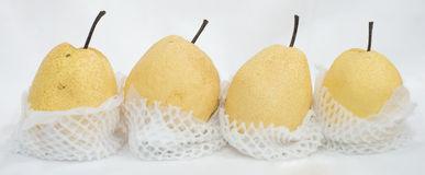 Fresh and Juicy Chinese Pear on isolation background Stock Photography